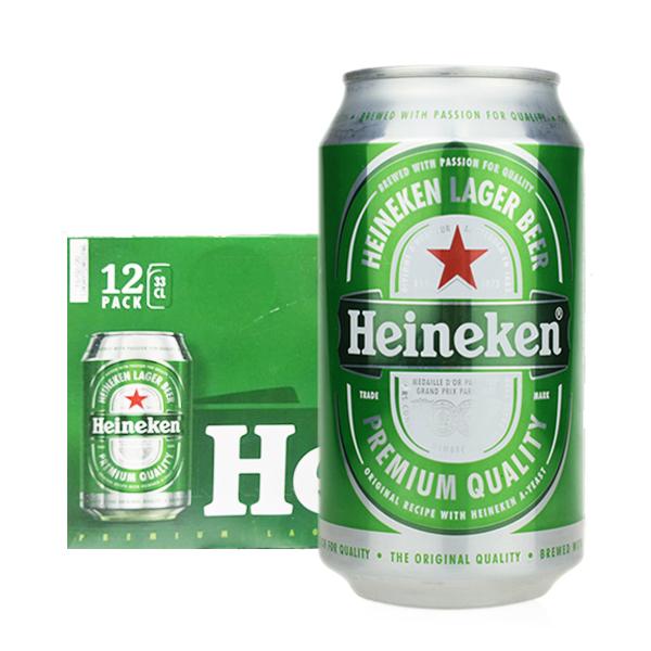 喜力海尼根啤酒330ml*2*12听