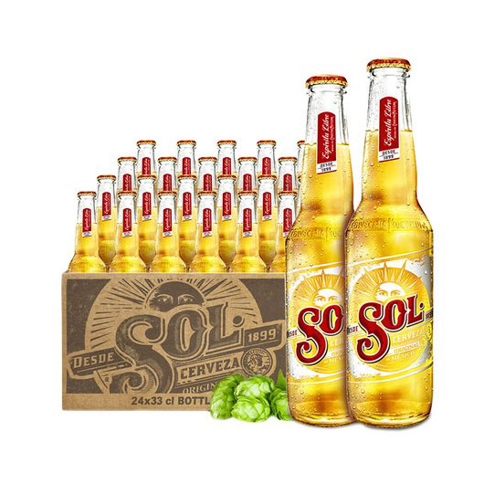 SOL/苏尔啤酒330ml*24瓶 墨西哥原装进口啤酒